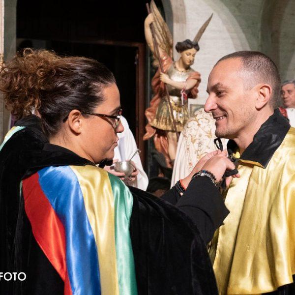 2019 Cerimonia d'Apertura - Federica Moretti e Andrea Ciuchicchi, capitano di Sant'Angelo