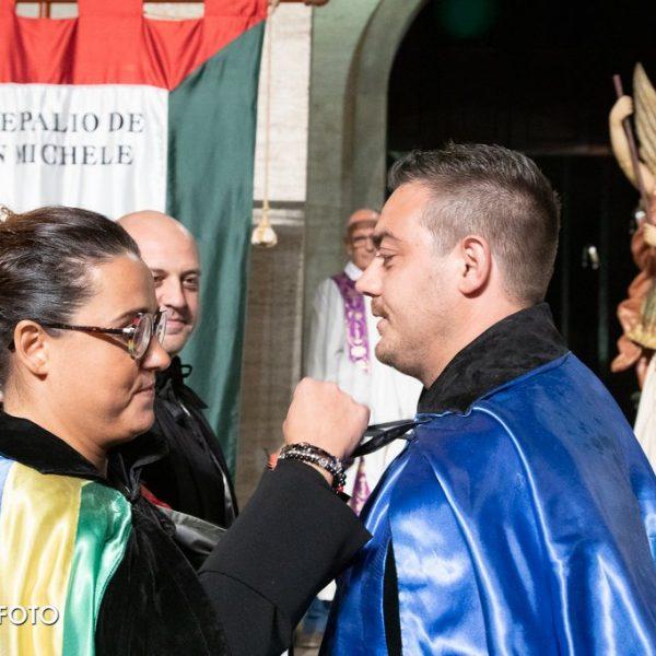 2019 Cerimonia d'Apertura - Federica Moretti e Daniele Trippetta, capitano di Portella