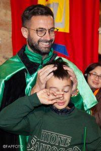 Simone Ridolfi con suo figlio Ettore