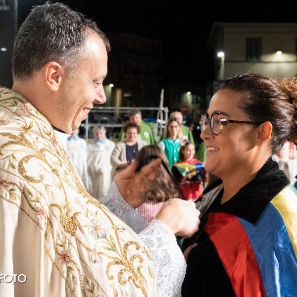 Don Marco Armillei e Federica Moretti