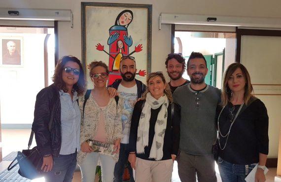 La delegazione dell'Ente Palio ospite del Serafico di Assisi