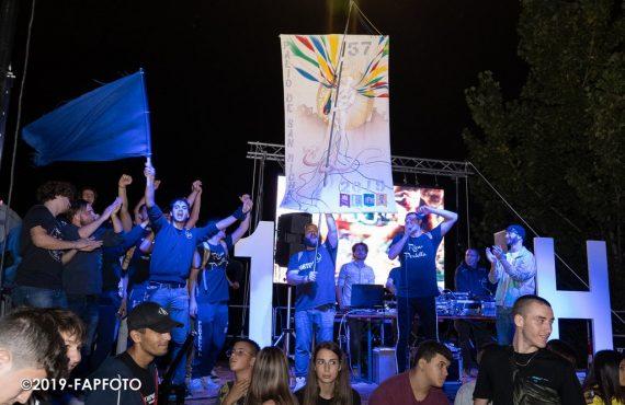Portella festeggia la vittoria del Palio 2019