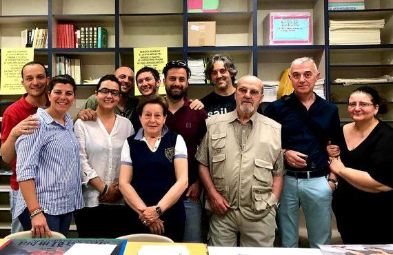 Stendardo Palio 2019, la Giuria Tecnica con gli artisti Fabrizio Bertolini e Marcello Masci