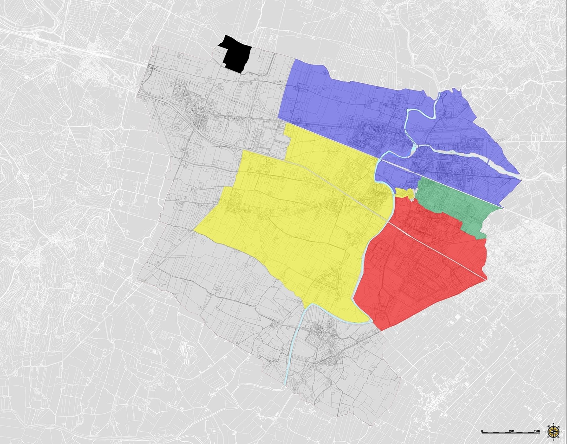 Mappa dei rioni