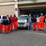 Gli operatori sanitari del Covid Hospital con le mascherine